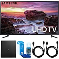 Samsung UN58MU6100 58 Smart MU6100 Series LED 4K UHD TV w/ Wi-Fi + Indoor Antenna Bundle Includes, Terk Indoor Flat 4K HDTV Multi-Directional Antenna, 2x 6ft HDMI Cable & LED TV Screen Cleaner