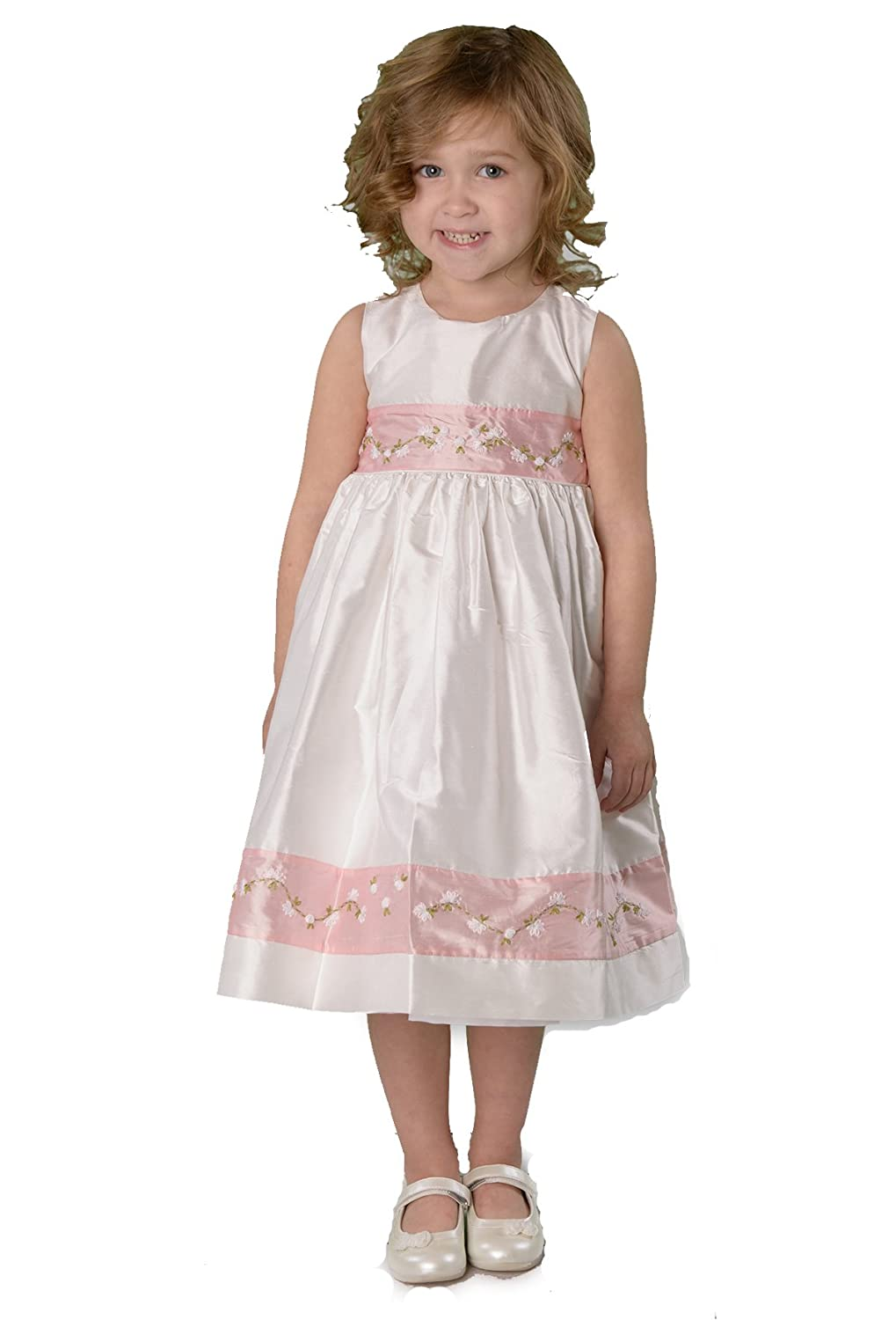 Strasburg Children Girls Lucy Silk Dress Southern Flower Girl Party Dress Easter