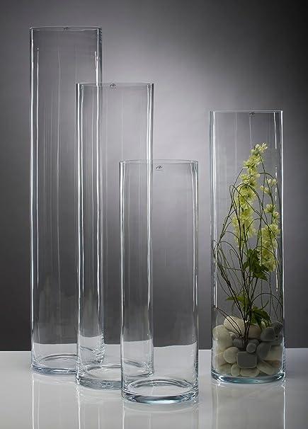 Sandra Rich Vase Glass Cylindrical 120 Cm Amazon Co Uk Kitchen Home