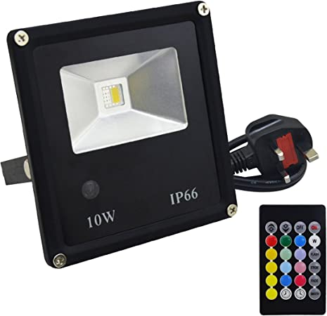 20W RGB LED Floodlight Remote control 16 Colors Outdoor Security Lights UK