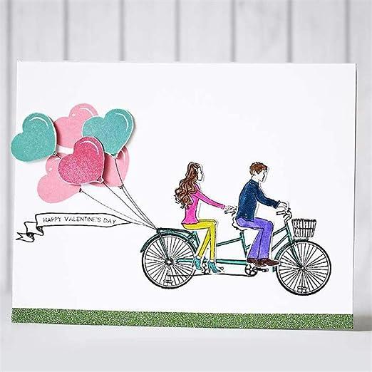 Día especial de las niñas Dies pares de la bicicleta de metal ...