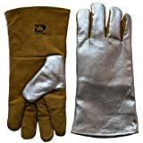 ZaoProteks ZP2102 Heat Resistant High Temperature Radiation 1000 ? Aluminized Safety Welding Gloves , Work Gloves , Large