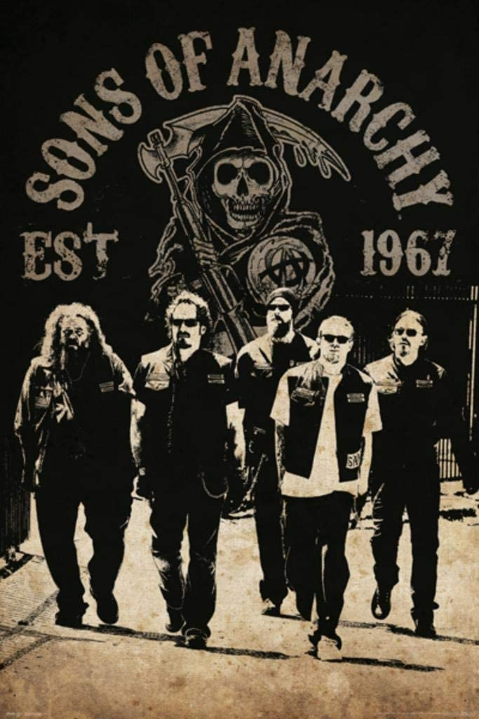 Pyramid America Sons of Anarchy Reaper Crew TV Laminated Dry Erase Sign Poster 24x36
