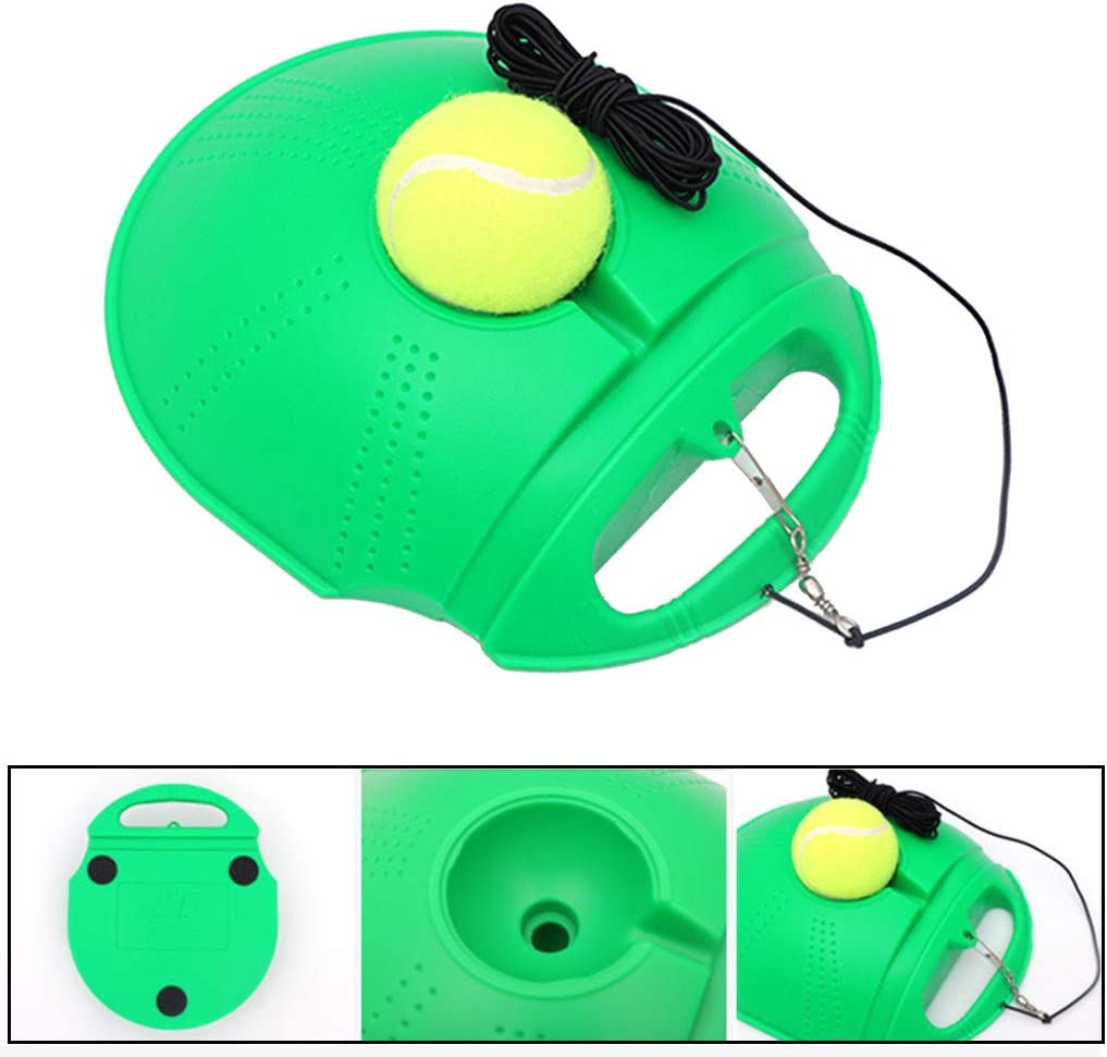Solo Tennis Practice Training Aid Baseboard with 2 Balls and Ropes Orange, Tennis Trainer Tennis Trainer Rebound Ball Sport Exercise Self-Study Tennis Equipment for Home Airpow 60/% Discount