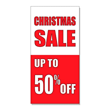 christmas sale up to 50 off custom decal sticker retail store sign 45 x - Amazon After Christmas Sale
