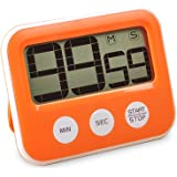 Digital Kitchen Timer Countdown Timer - MAGOTAN Cooking Timer with Big Digits Loud Alarm Magnetic Backing Stand Memory Large LCD Display for Cooking Baking Exercise Games Office (Battery Not Included)