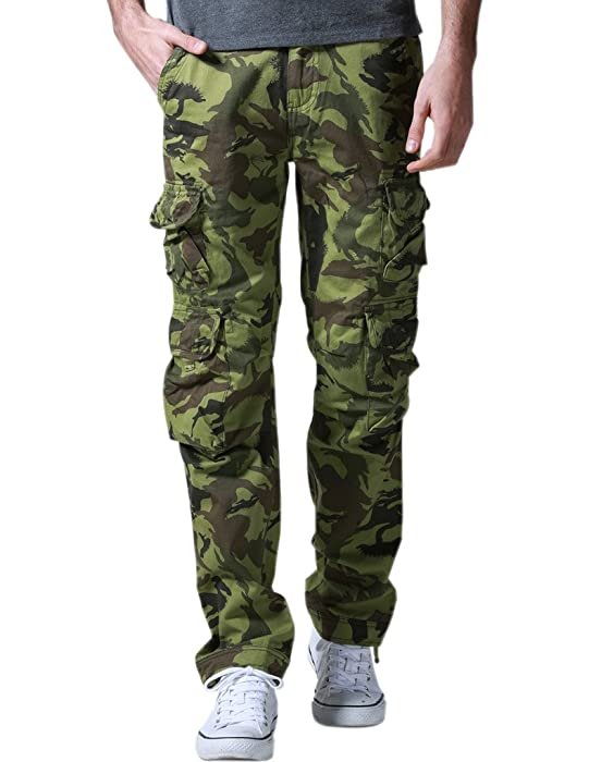 Match Men's Woodland Military Tough Cargo Pants (US 28 (Tag size S ...