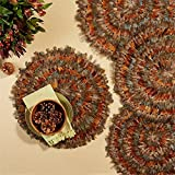 Two's Company Set of 6 Pheasant Park Round Decorative Mats