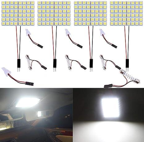 Auto illuminazione interni auto Dome Light 48/SMD LED lampada con luce T10/adattatore festone luce adattatore