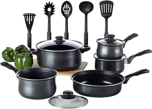 Nouveau 3 Non Stick casseroles avec couvercle en verre cuisson cuisine ustensiles de cuisine pots casseroles Hot