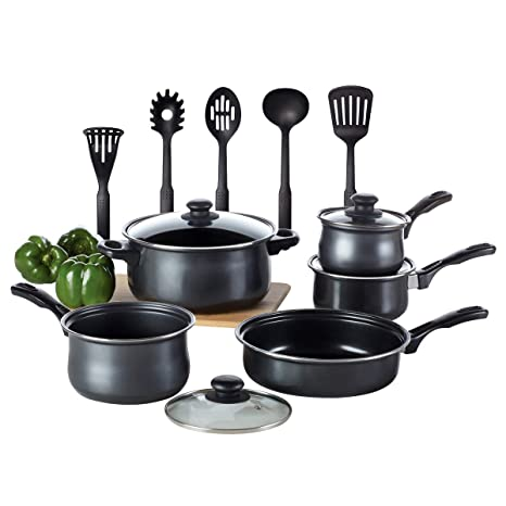 Kitchen Cookware Set Toptier 14 Pieces Nonstick Kitchen Pots And Pans Set With 3 Saucepans 1 Dutch Oven 1 Open Skillet And 5 Nonstick Cooking