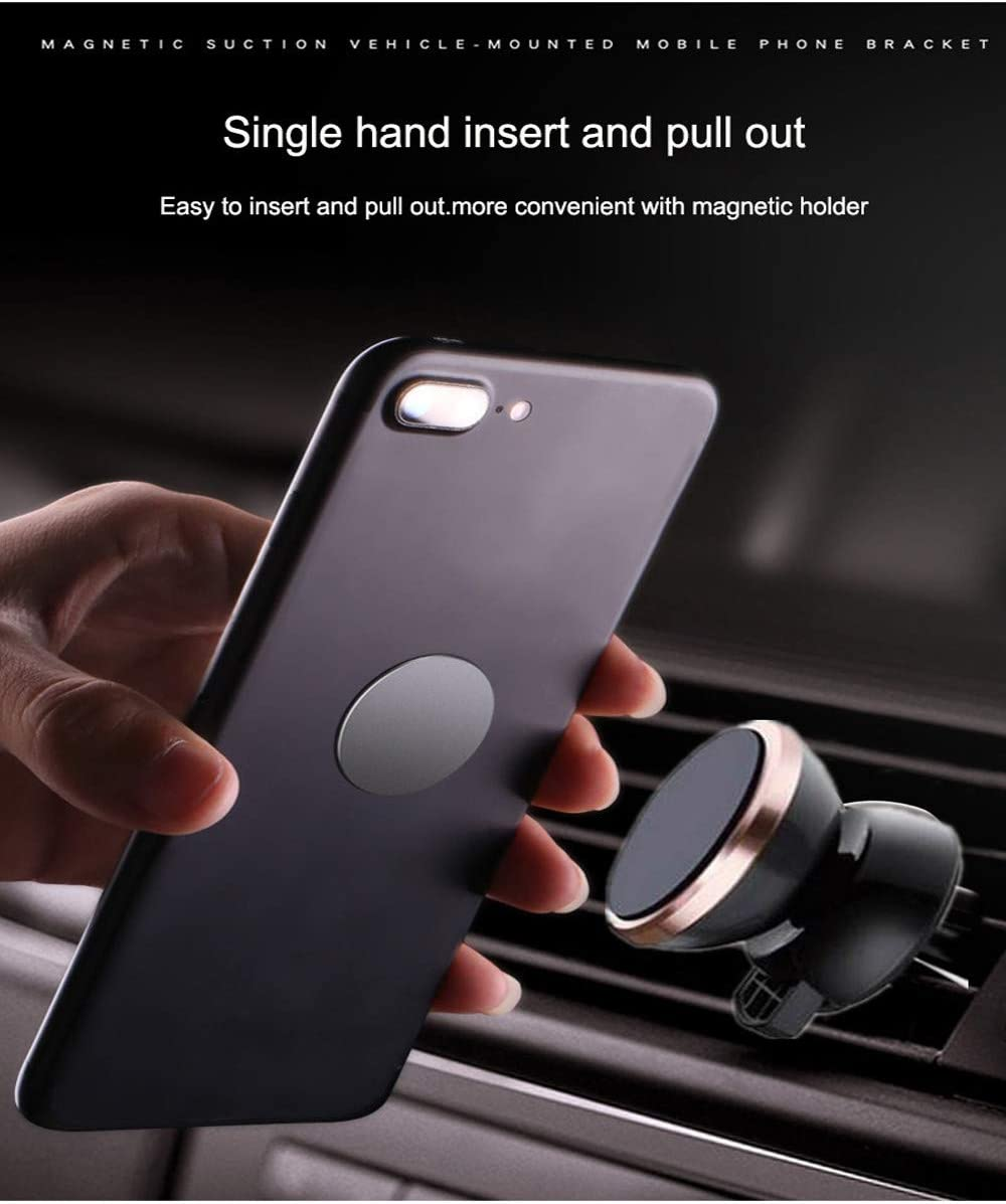C EDTO Universal 360/° Magnetic Shield Car Phone Holder Mount Stand for Mobile Cell Phone GPS