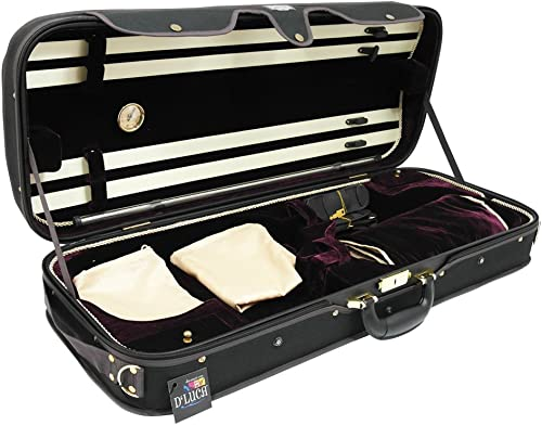 D'Luca CP04M-BKBU Double Violin Case