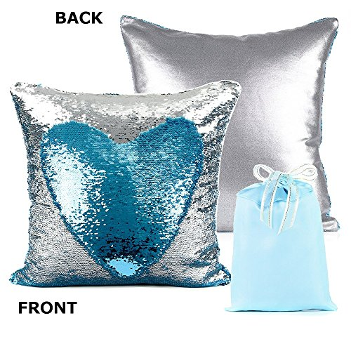 Europe Luxurious Sequin Cushion Turquoise product image