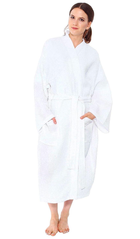12 Bulk Lot Wholesale-cozy Cotton Style Waffle Pattern Spa   Bath Robe-sleepwear  White at Amazon Women s Clothing store  Robe Hooks eaca3b8c4