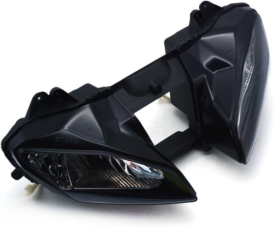 Fast Pro Motorrad Schwarz Scheinwerfer Kopf Licht Scheinwerfer f/ür Yamaha YZF R1