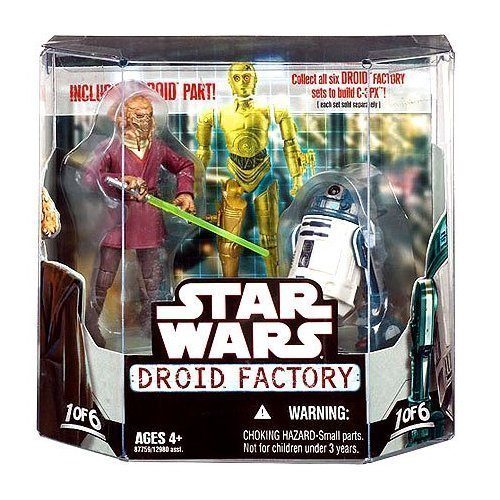 Star Wars Saga 2008 Build-A-Droid Factory Action Figure 2-Pack Plo Kloon and - Master Jedi Plo Koon