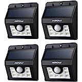 Mpow Luci Solari Lampada Wireless ad Energia Solare da Esterno con 8 Lampadine LED con Sensore di Movimento, per Parete / Giardino / Cortile / Scale / Muro, con Funzione di Dusk to Dawn Dark Sensing Auto On / Off, Versione Nuova - 8 LED( 4 Pezzi)