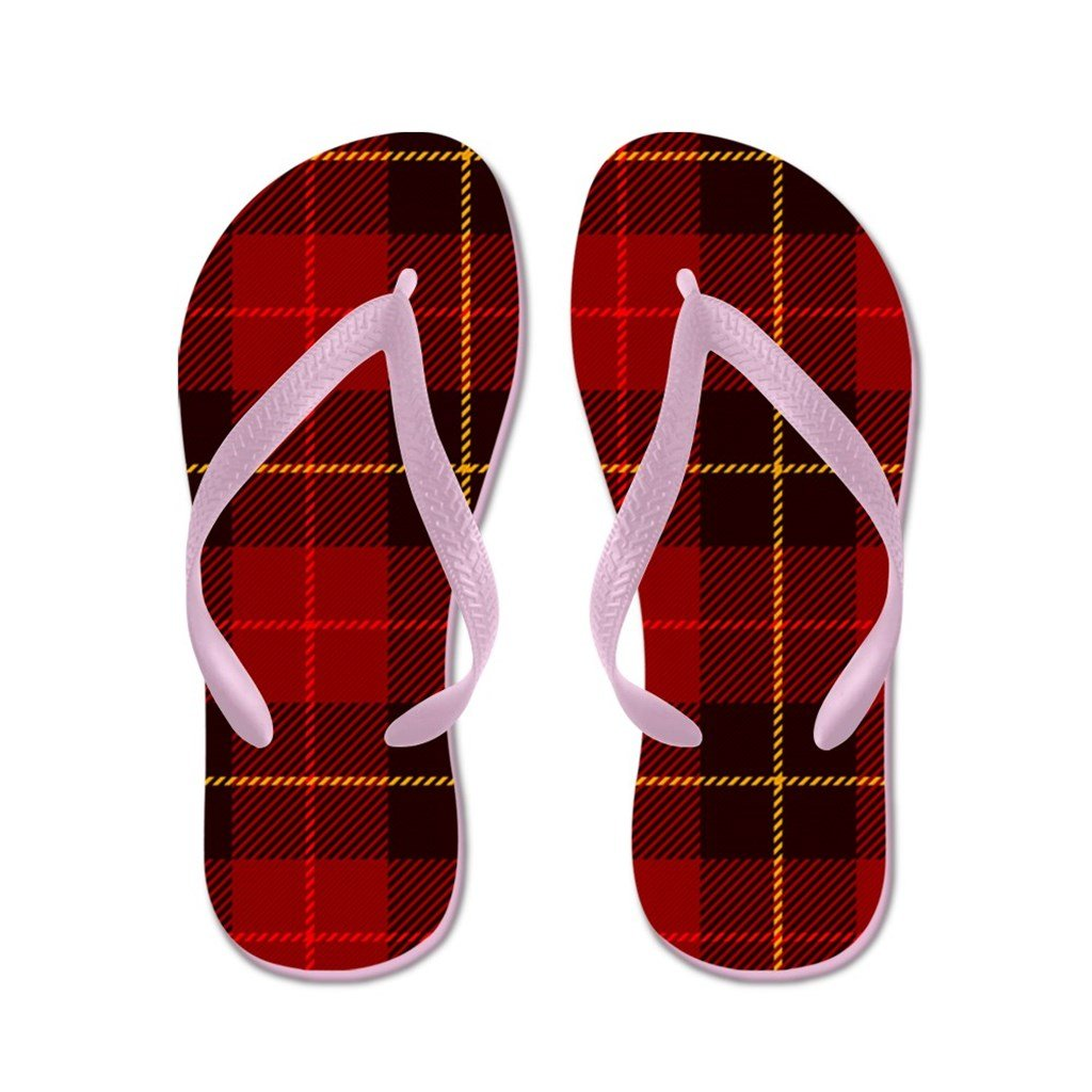 Lplpol Tartan Plaid Flip Flops for Kids and Adult Unisex Beach Sandals Pool Shoes Party Slippers