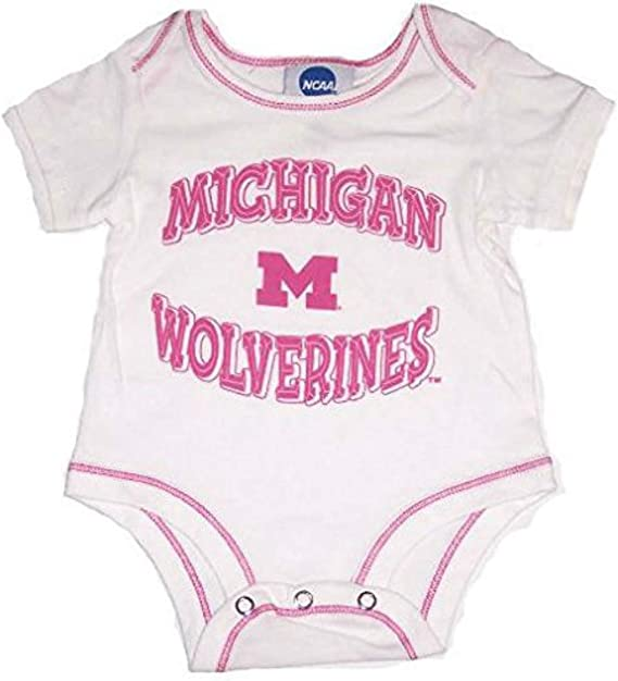 White and Pink NCAA Ohio State Buckeyes Infant One Piece 18 Months Bodysuit