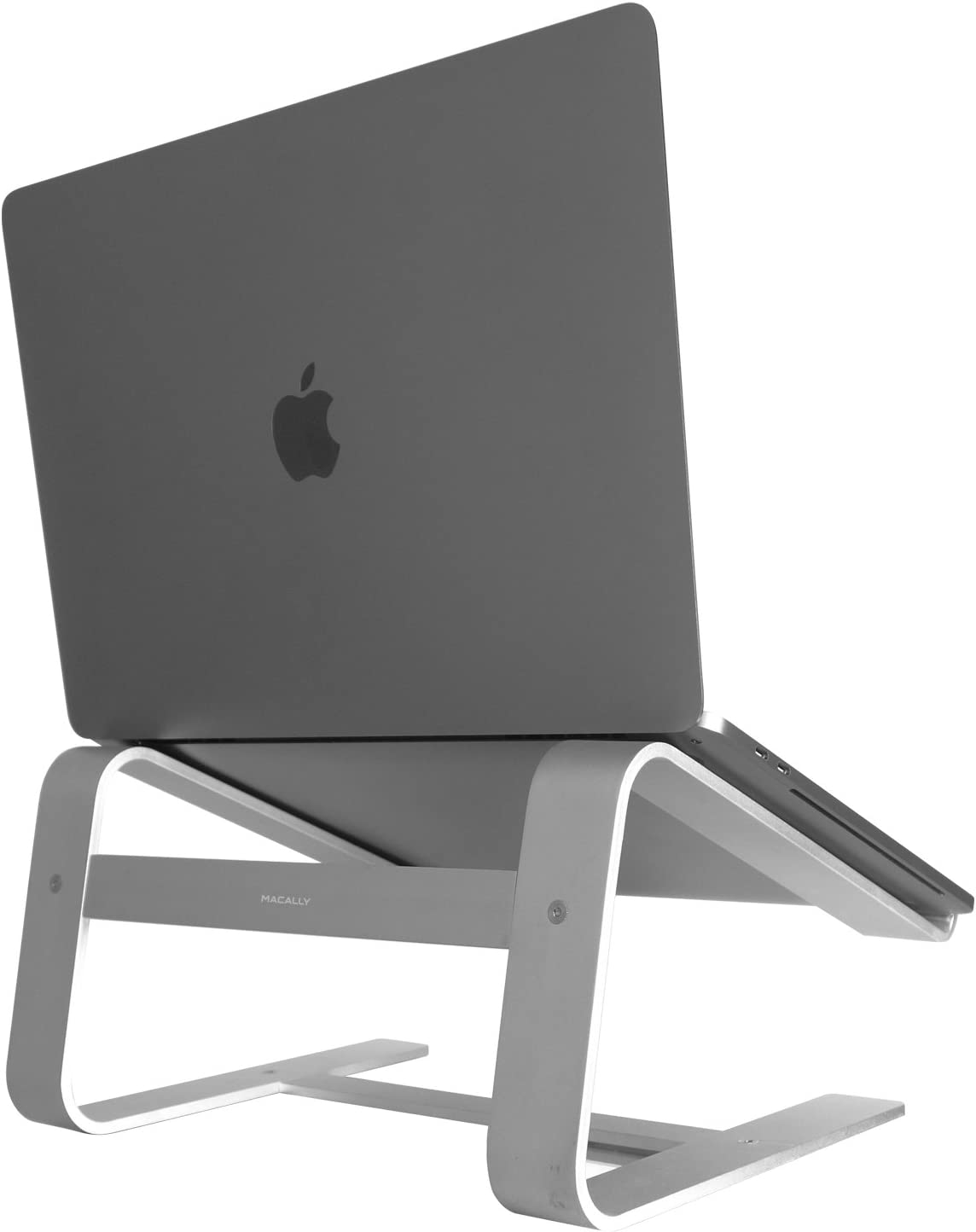 """Macally ASTAND Aluminum Laptop Stand for Apple MacBook, MacBook Air, MacBook Pro and Any Laptop Between 10"""" to 17"""" - Silver"""