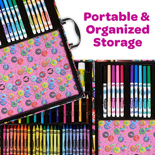 Crayola Trolls World Tour Inspiration Art Case, Over 110 Pieces, Art Set, Gifts for Kids, Age 5, 6, 7, 8, Multi (04-0912)
