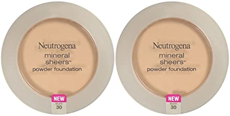 Neutrogena Cosmetics Mineral Sheers Compact Powder Foundation – Buff 30 – 2 pk