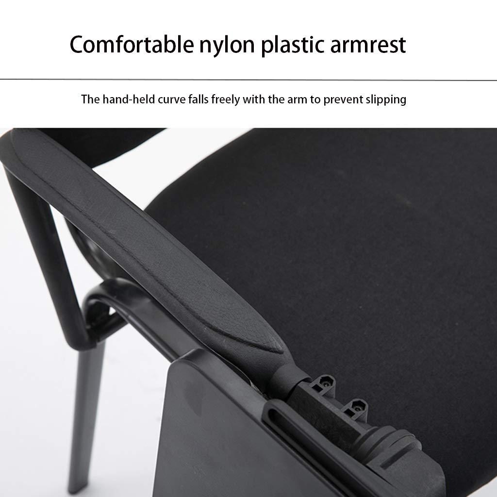 Zhou-WD mottagningsstol, mjuk andningsbar kontorsstol träning lär konferensstol student sovsal stol total höjd: 81 cm kontorsmöbler (färg: svart) Ljusgrå