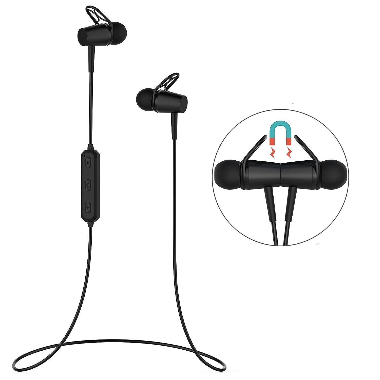 Bluetooth 4.2 Headphones,wireless bluetooth Earbuds with Mic ,Waterproof Sweatproof Wireless Earphones for Running Exercising Robust Pine