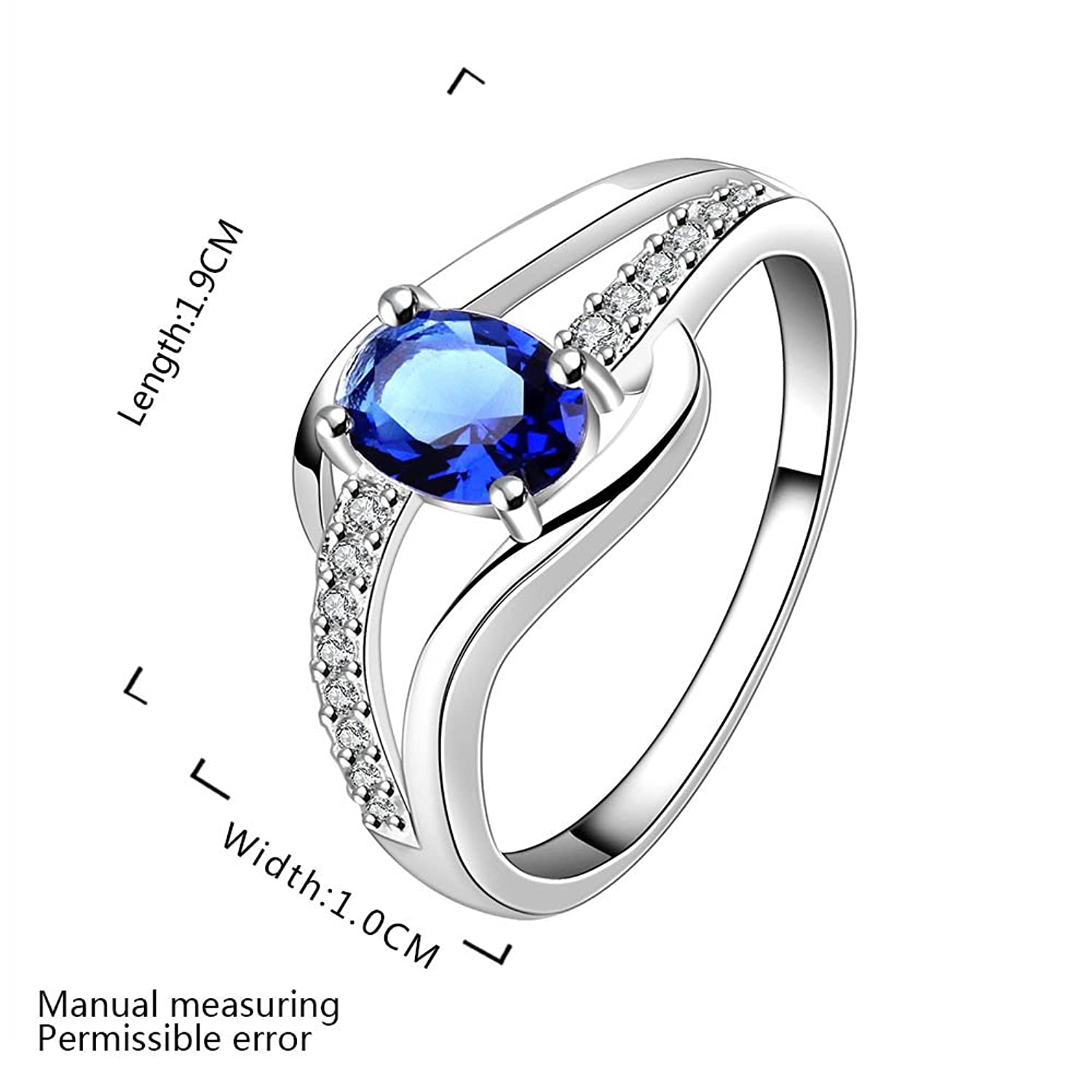 diamond ct jewelry royal gia ring wedding cut platinum ceylon natural genuine rings blue sapphire cushion