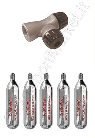 Grifo dispensador + 5 Botes Inflado CO2 Aire Comprimido Para Bicicleta MTB - Corsa: Amazon.es: Deportes y aire libre