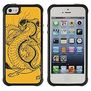 Hybrid Anti-Shock Defend Case for Apple iPhone 5 5S / Cool Bull & Lunch Message