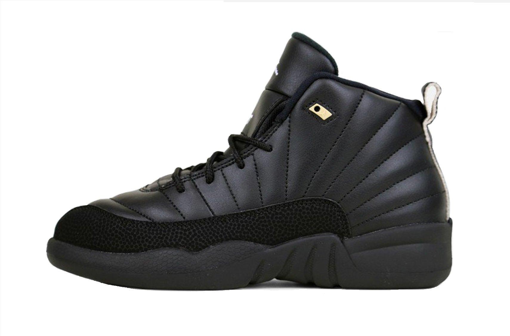 Nike Air Jordan Retro 12 THE MASTER Preschool P.S Black Rattan White Metallic Gold 151186-013 (12)