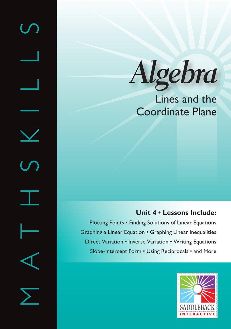 Algebra Unit 4 Interactive Whiteboard: Lines and the Coordinate Plane Mathskills: Amazon.es: Saddleback Interactive: Libros en idiomas extranjeros