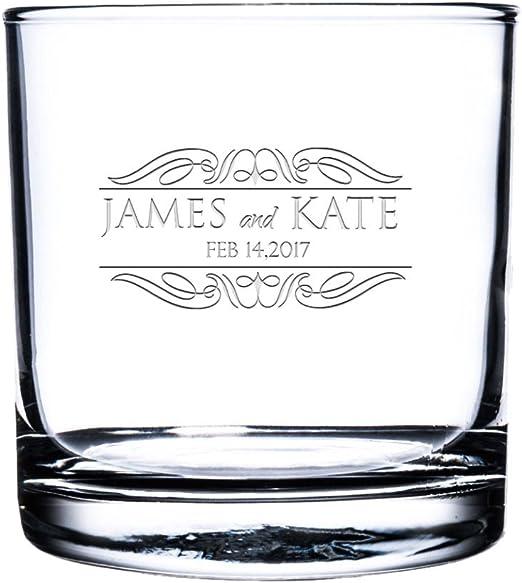 Custom Whiskey Glass Etched Scotch Glass,Personalized Rocks Glass