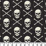 Skull & Crossbones Cotton Fabric by The Yard