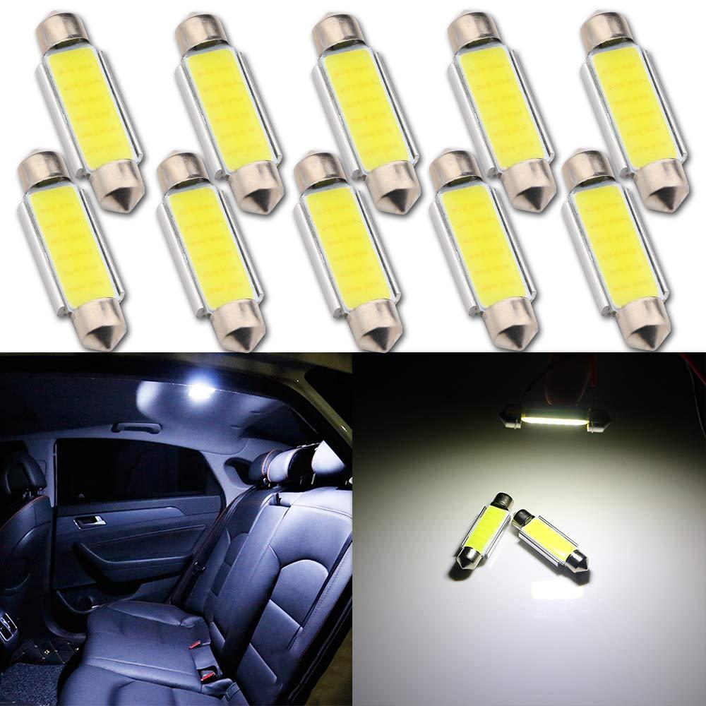 Auto Grandview 10pcs 31 millimetri del festone Canbus COB DC 12V LED cupola della lettura auto delle luci interni Lampade Super Bright lampadine DE3175 DE3021 DE3022 3175