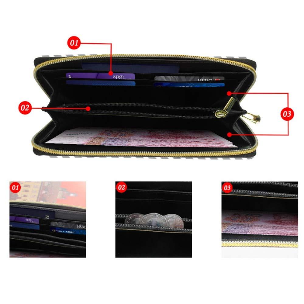 WeoHau Girls 3D Print Fashion Pu Long Wallet Zipper Multi-Function Clutch Starlight