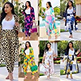 Womens Floral Print Long Sleeve Cardigan Cover up