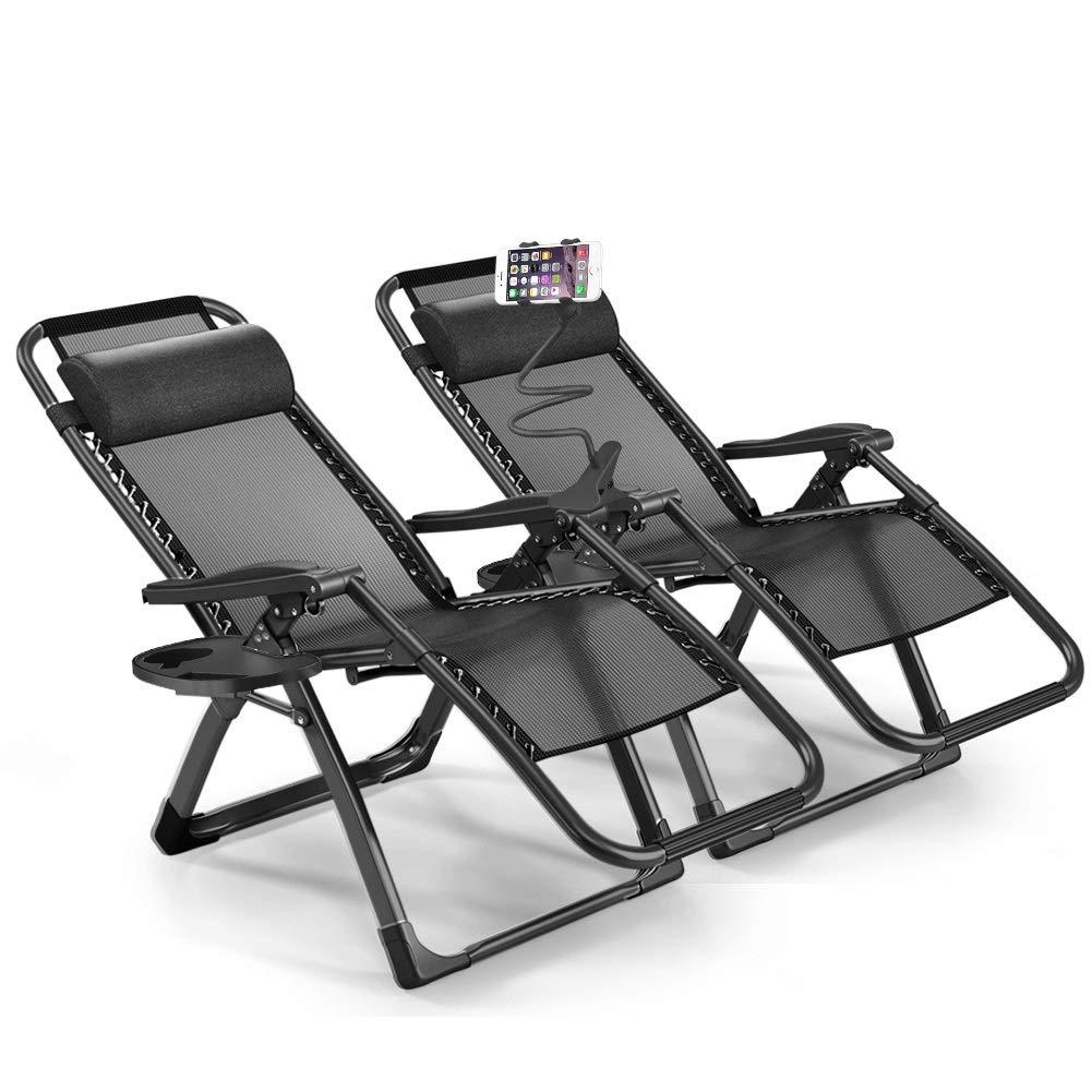 Furgle Sun Lounger Set of 2 Outdoor Zero Gravity Chair XL