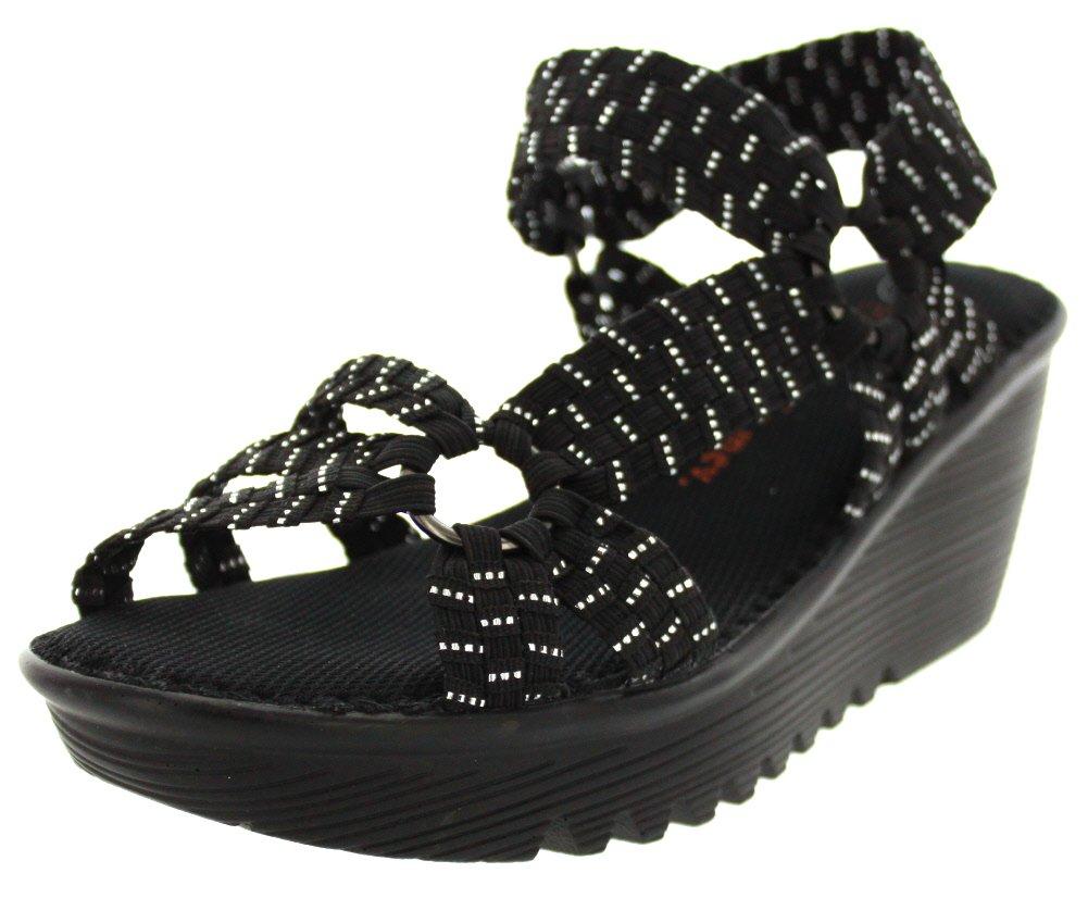 Bernie Mev Womens Crystal Sandal B00J5AF0ZQ 41 M EU / 9.5-10 B(M) US|Black Silver