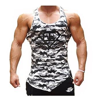 DOTBUY Tank Top Herren Muskelshirt ideal f/ür Sport Gym Fitness /& Bodybuilding M, Grau-Wei/ß-Tarnung Muscle Shirt L/ässig Tanktop Achselshirt Sportshirt Unterhemd
