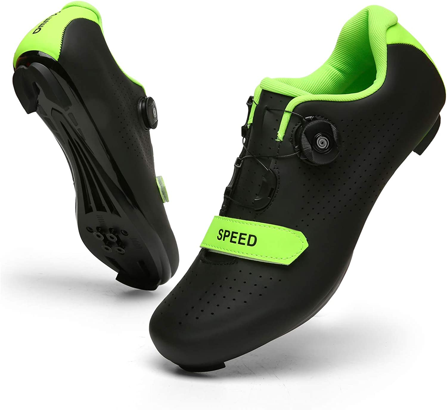 Amazon.com | SANYES Men's Cycling Shoes Breathable Road Bike Mountain Bike  SPD/SPD-SL Compatible Peloton Bike Indoor Spin Shoes | Cycling