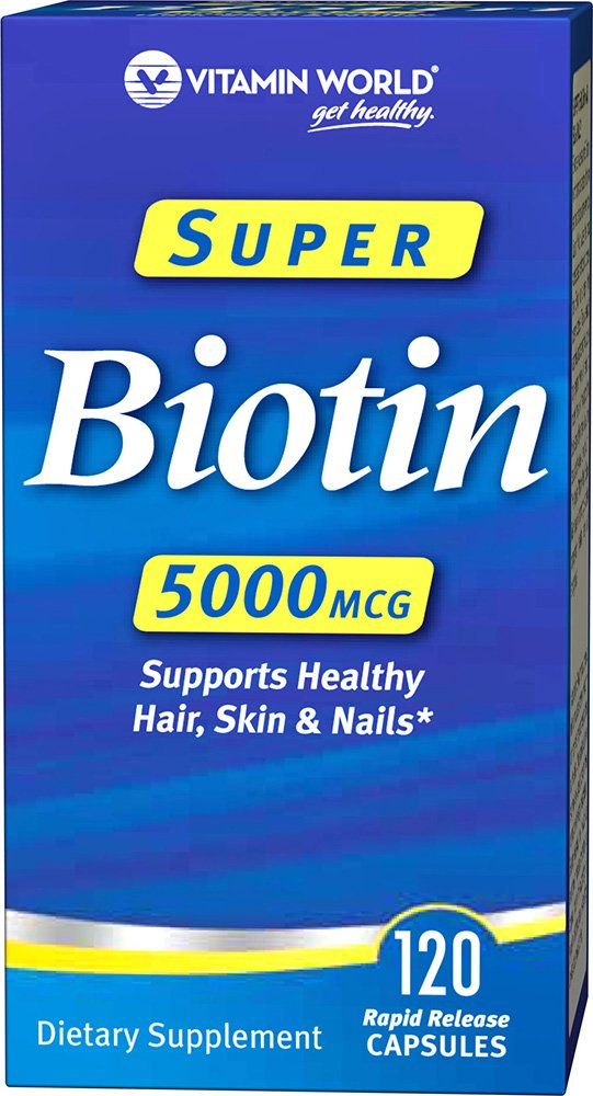 Vitamin World Super Biotin, 120 Count