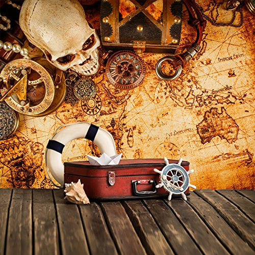 azutura Vintage Treasure Map Wall Mural Pirate Photo Wallpaper Boys Bedroom Home Decor Available in 8 Sizes Gigantic Digital