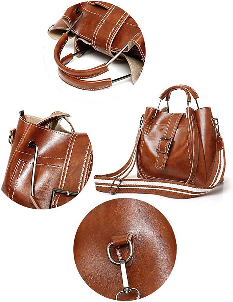 MEIYIN 3pcs Women Leather Handbag Set Ladies Shoulder Bags Tote Large Messenger Satchel Crossbody Bag