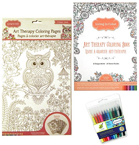 - Art Therapy Enchanted Garden Coloring Book - Tropicana Tropical Coloring  Page Posters And 12 Color Factory Fine Tip Markers Living In Color Bundle-  Buy Online In Bahamas At Desertcart