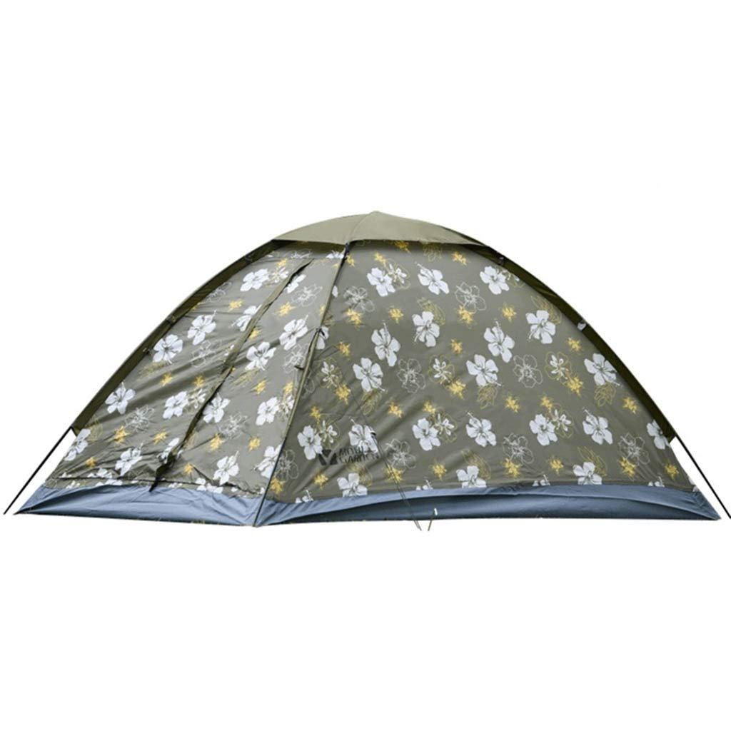 Outdoor Camping Bergsteigen Winddicht SchäDlingsbekäMpfung Doppel Einzelschicht DREI Jahreszeiten Glas Pole Zelt - 2 Farbe Optional