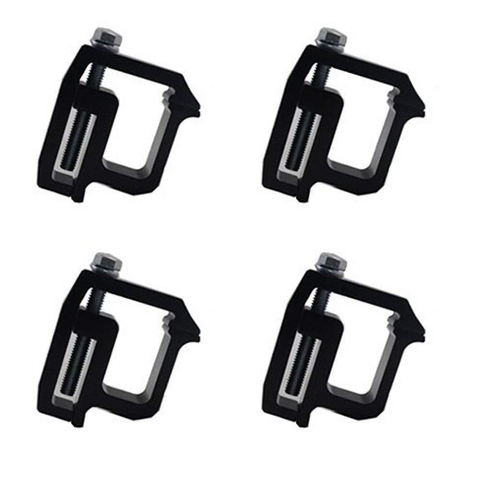 Black iFJF Mounting Clamps Truck Caps Camper Shell Powder-Coated fit Chevy Silverado Sierra 1500 2500 3500,Dodge Dakota Ram 1500 2500 3500,Ford F150 F250,Nissan Titan,Toyota Tundra Set of 4