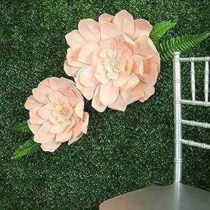 "Silk Flower Arrangements Efavormart 2 Pack 24"" Blush Real Feel Foam Daisy Flowers for Walls Backdrops Centerpieces Arrangements Party Home Decoration"